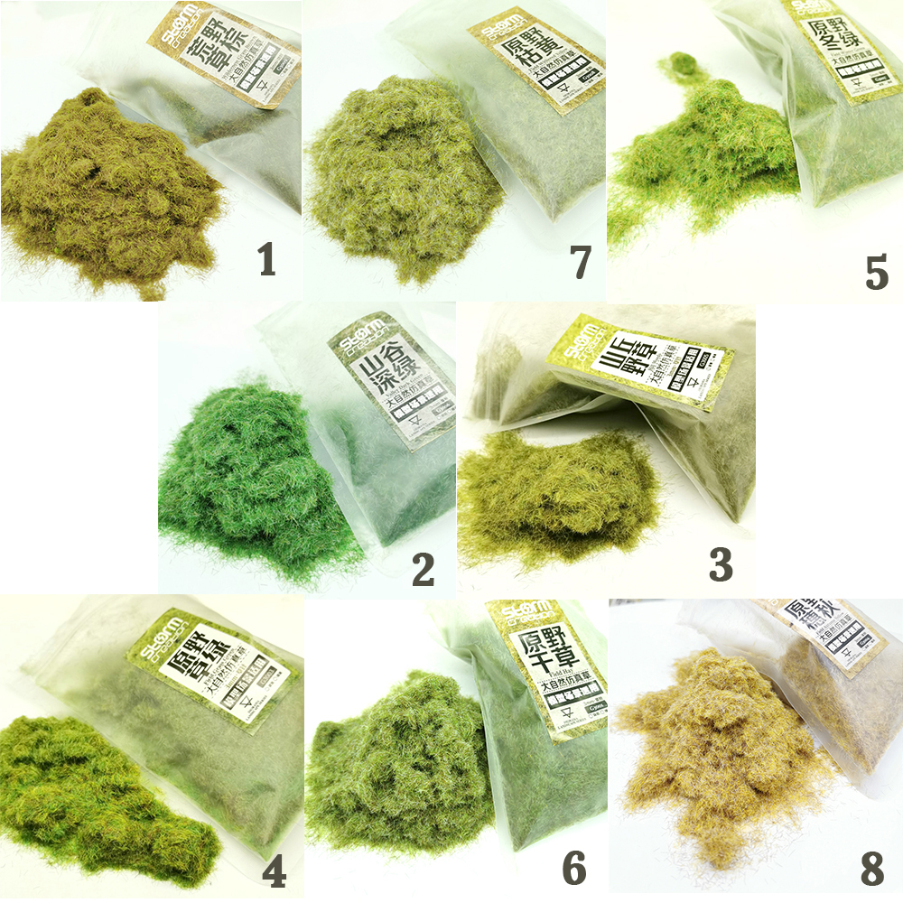 3mm Model Plant Grass Powder Toy Multiple Colors Selection Building Sand Table Production Simulation Garden Simulation Grass