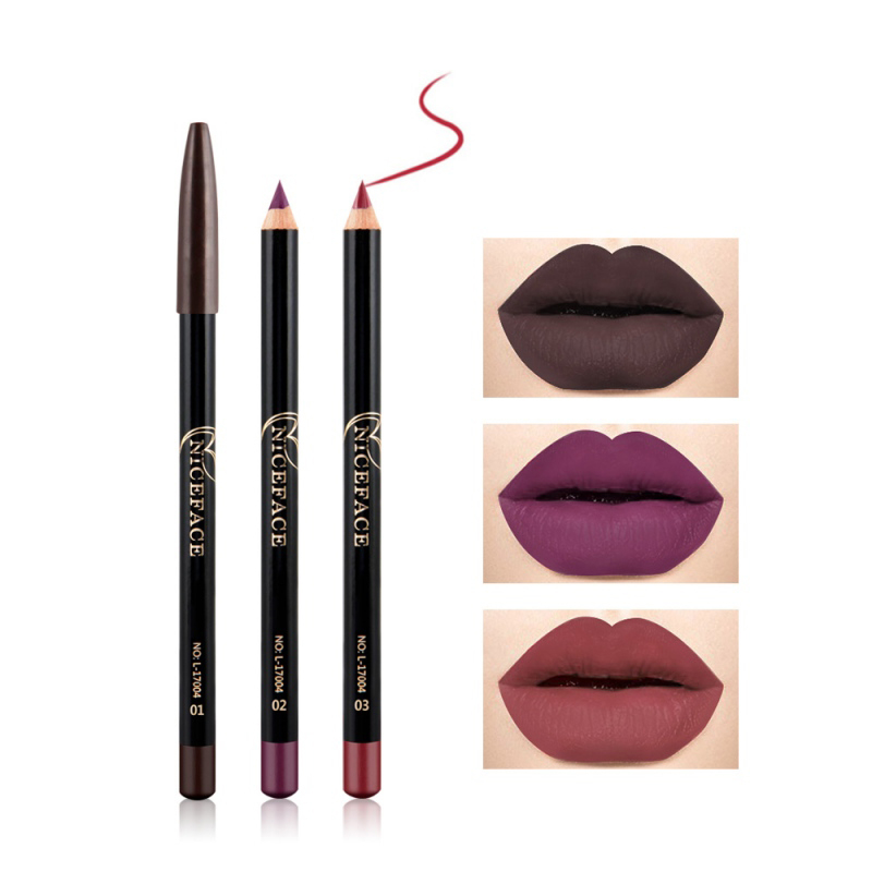 12 Colors Matte Lip Liner Lipstick Pen Waterproof Long Lasting Pigments No Blooming Smooth Lipsticks Pencil Lips Contour Makeup