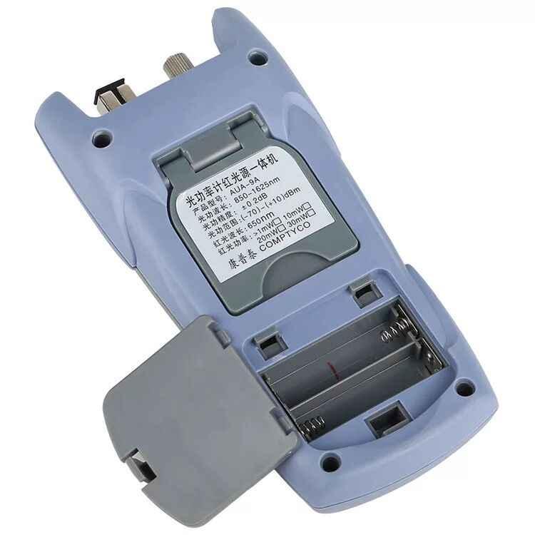 1MW AUA-9A medidor de potencia óptica luz roja máquina luz de fibra probador de decaimiento luz roja pluma 1-5 km