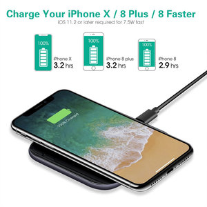 Image 2 - 15W Mirror Cover Wireless Charger For Samsung Note 10 Plus S10 Xiaomi Mi9 Huawei P30 Pro iPhone XR X XS Max 8 Phone Accessories