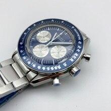 Corgeut ผู้ชายนาฬิกาข้อมือสุดหรูนาฬิกาผู้ชายควอตซ์กีฬาทหารนาฬิกา 24 ชั่วโมง Casual กันน้ำ Chronograph นาฬิกาข้อมือชาย 42 มม.