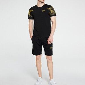 Summer 2PC Set Men EUR/US Size Short Sleeve T Shirts Two Piece Tops+ Shorts Suit Sportswear Set Mens Short Sets Male Tracksuit