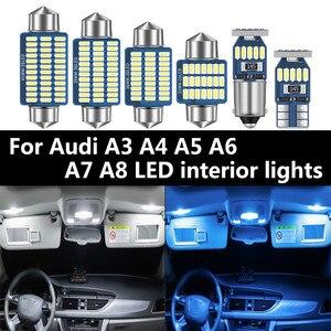 Image 1 - Para Audi A3 8L 8V 8P A4 B5 B6 B7 B8 A5 A6 C5 C6 C7 A7 A8 D2 D3 Canbus vehículo LED Interior mapa cúpula luz en el maletero Kit