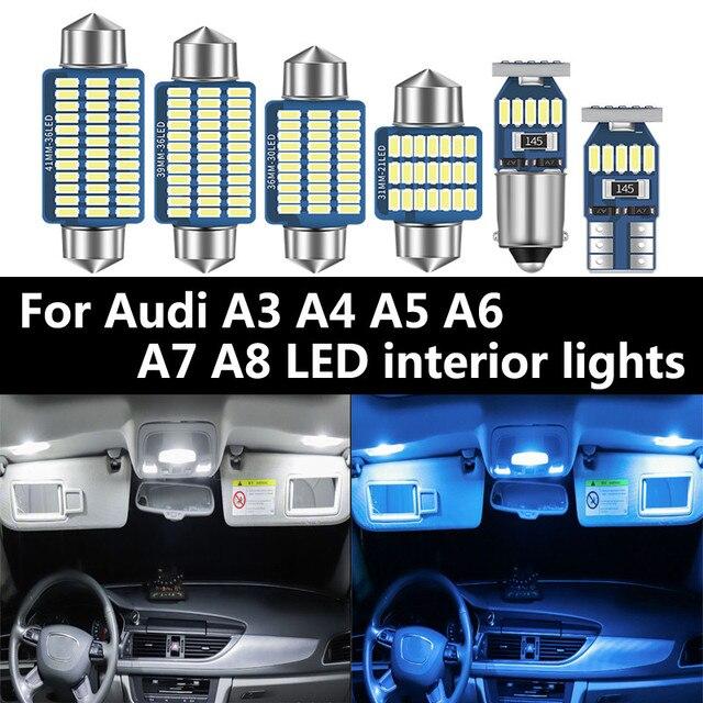 Para Audi A3 8L 8V 8P A4 B5 B6 B7 B8 A5 A6 C5 C6 C7 A7 A8 D2 D3 Canbus vehículo LED Interior mapa cúpula luz en el maletero Kit