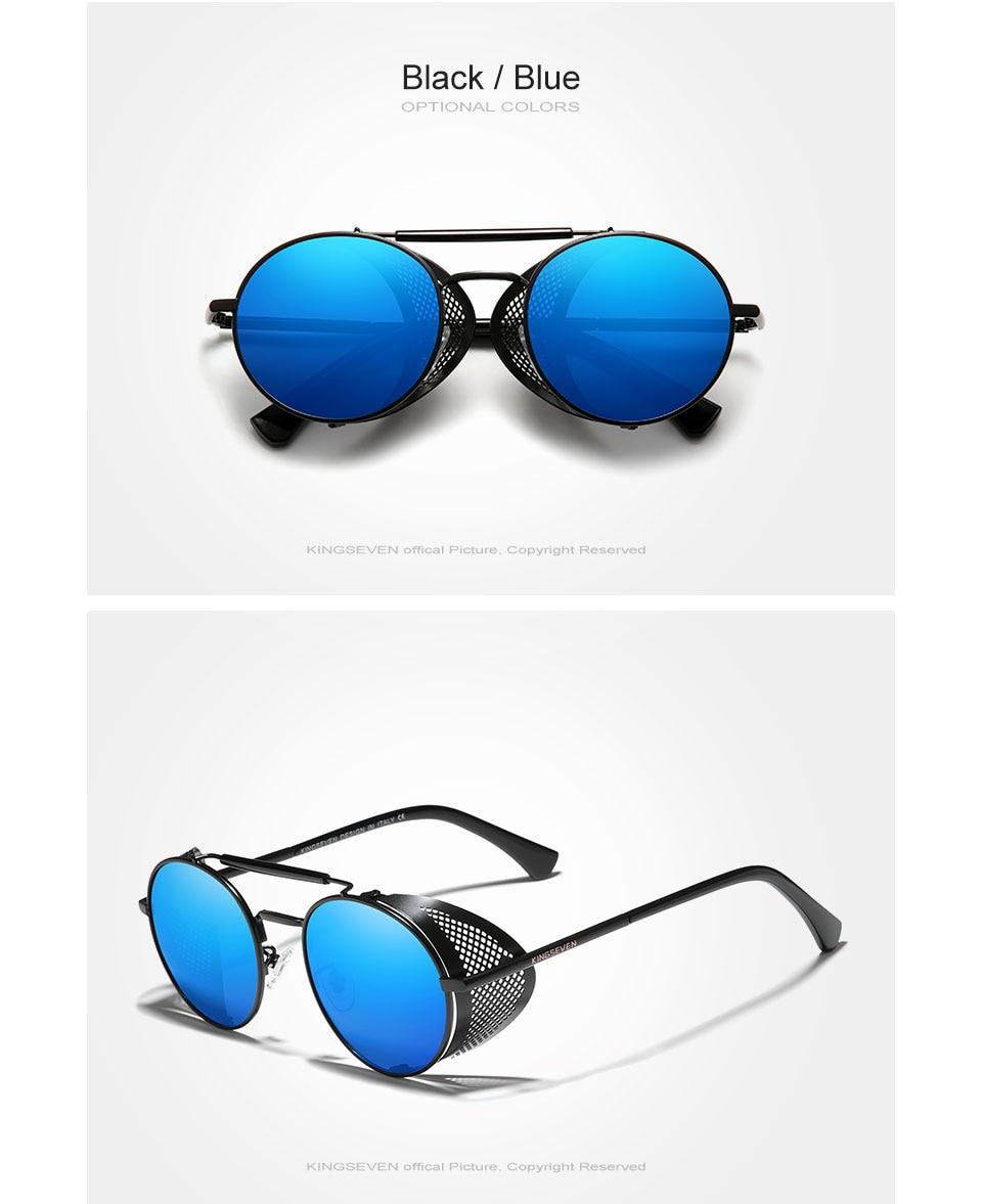 H206d8695bfd04c1b82b41912a57361d2W Genuine GIFTINGER Retro Round Steampunk Sunglasses Men Retro Women Sun Glasses Shades Vintage Travel Eyewear Gafas De Sol 7550
