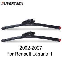 SLIVERYSEA Replace Wiper Blade for Renault Laguna II 2002-2007 Silicone Rubber Windshield Windscreen Auto Car Accessories