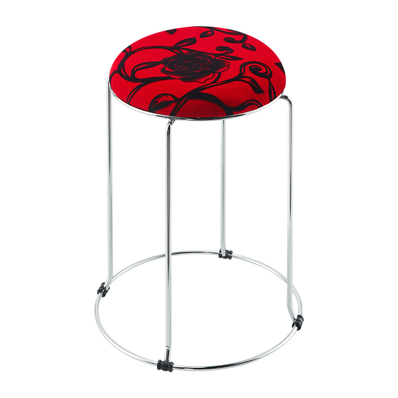 Simple creative round stool folding small bench cloth stool home coffee table low stool fashion European dining stool chair high