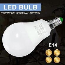 E14 LED Lamp 220V E27 Led Light Bulb 3W 6W 9W 12W 15W 18W 20W Lampada Spotlight Table Indoor Lighting 240V 2835SMD