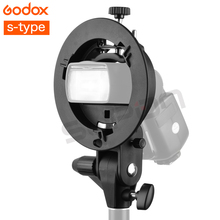 PRÓ Godox S Tipo Bowens Montar Titular Suporte de plástico Resistente para o Flash Speedlite Snoot Softbox Photo Studio Acessórios