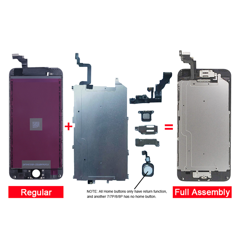 Image 3 - Complete LCD Or Full Assembly Display or Screen for iPhone  5S 6S 7 7P or for iphone 6 with Home Button and Front Camera-in Mobile Phone LCD Screens from Cellphones & Telecommunications