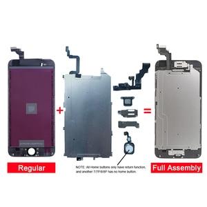 Image 3 - Kompletny wyświetlacz LCD lub komplet lub ekran dla iphone 5S 6S 7 7P lub dla iphone 6 z przyciskiem Home i przednim aparatem