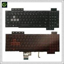Orijinal İngilizce arkadan aydınlatmalı klavye için ASUS ROG FX504 FX504G FX504GE FX504GD fx504gm abd laptop