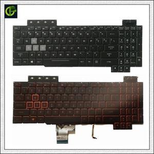 Image 1 - Orijinal İngilizce arkadan aydınlatmalı klavye için ASUS ROG FX504 FX504G FX504GE FX504GD fx504gm abd laptop