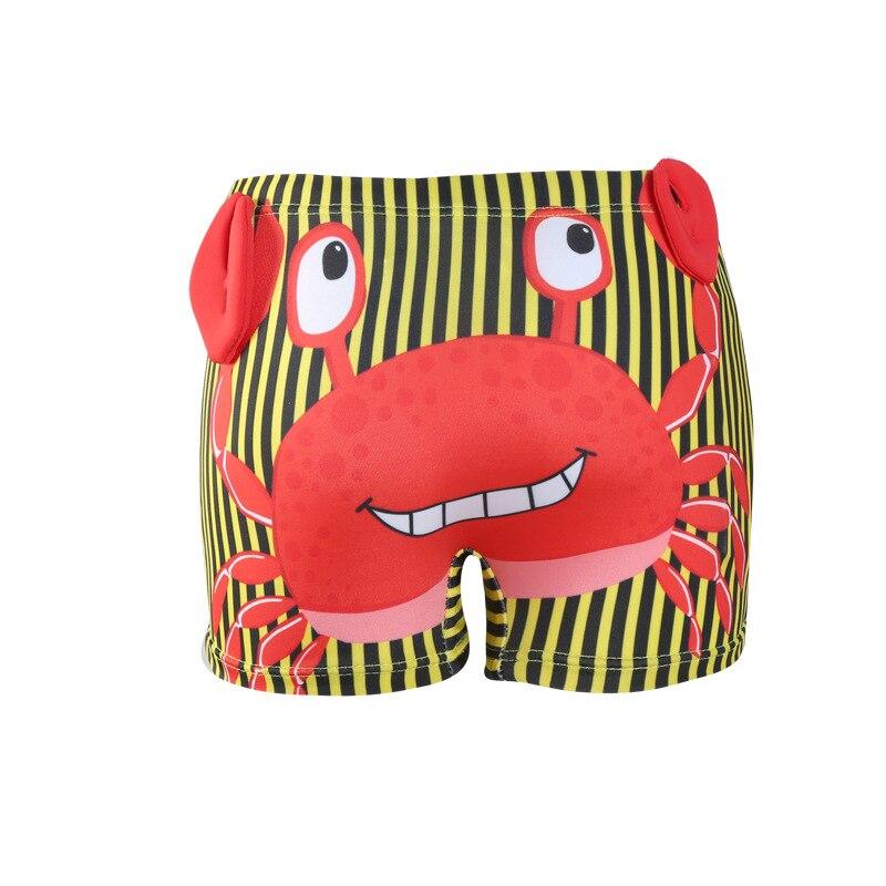 CHILDREN'S Swimming Trunks BOY'S Cartoon Cute Crab Stripes Boxer Children Male Baby Swimming Trunks