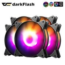 Darkflash C6 pc Computer Case Fan sintonizzazione RGB ventola colorata 4pin regola LED 120mm radiatore argb Cooler raffreddamento silenzioso ventole da 12cm