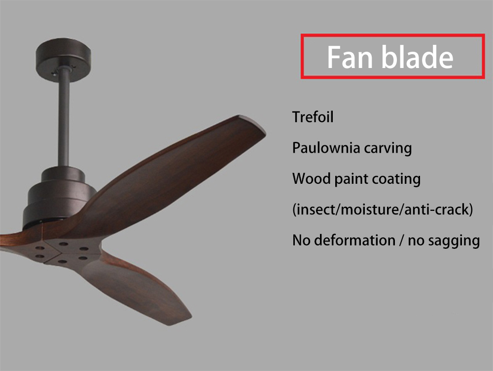 American Retro Led Ceiling Fan For Living Room 110v 220v Wooden Ceiling Fans With Lights 60 Inch Blades Cooling Fan Remote Fan Chandeliers Aliexpress