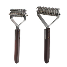 Pet Stainless Double-sided Brush Cat Dog Hair Removal Comb Grooming Dematting Deshedding