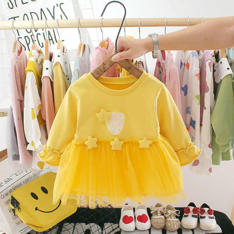 LOOZYKIT sonbahar yenidoğan bebek kız elbise kız 1 yıl doğum günü tutu elbise prenses bebek elbise bebek giyim yürümeye başlayan elbiseler