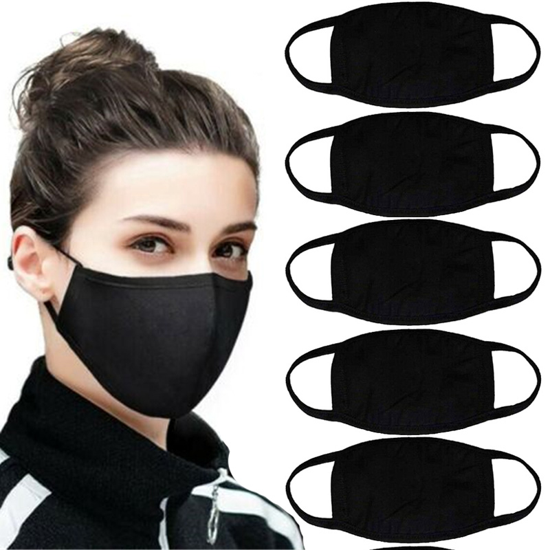 2020 New Cotton Mouth Mask Washable Reusable Anti-Dust Face Mouth Mask Respirator Warming Wearing Windproof Unisex Mask
