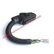 Edc7 trilho comum 89 pinos ecu conector auto pc placa soquete com cablagem para bosch