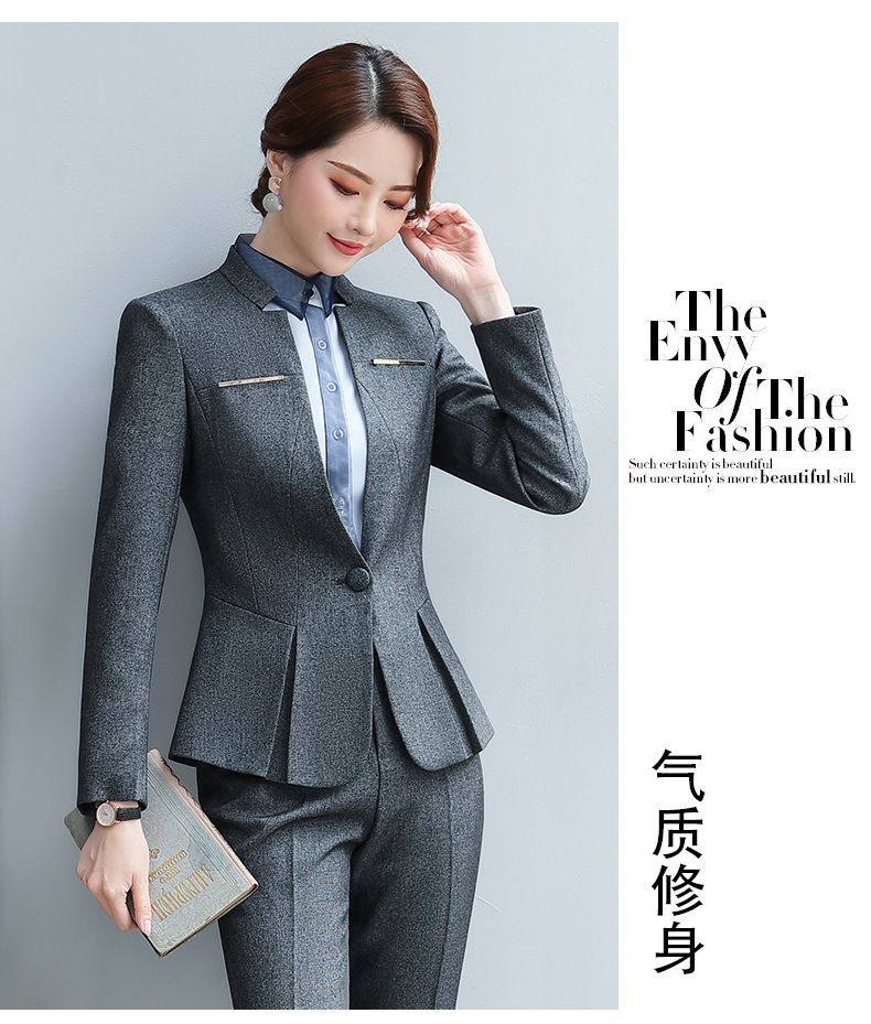 2019 New OL Style Women's Clothing Set Fashion Lady's Clothing Set Simple Design 2 Colors Size XS To 2XL J9529-0434-E