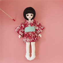 Doll Clothes Dolls Accessories Cherry Blossom Kimono 1/6 BJD Doll Clothes Dress Cherry Blossom Kimono Girls Doll Clothes Toys(China)