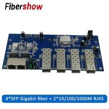Гигабитный Ethernet-коммутатор волоконно-оптический переключатель промышленный Класс 4 1,25G sfp волоконно Порты и разъёмы 2 RJ45 10/100/1000M печатной платы
