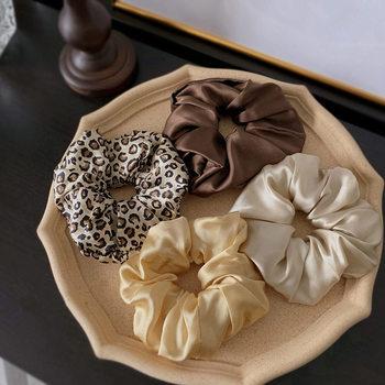Free shipping 100% Pure Silk Hair Scrunchies Charm Hair Bands Fashion Ponytail Hair Ties Hair Accessory for Women Girls недорого