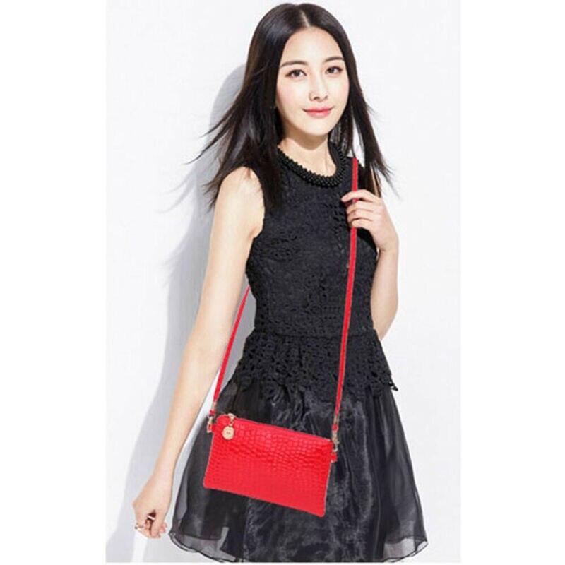 UK Women PU Messenger Shoulder Bag Handbag Ladies Purse Satchel Crossbody Wallet Faux Leather Shoulder Bag Purse Handbag