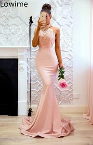 Image 2 - Tanie koronki turecki suknia wieczorowa długa syrenka Halter seksowna sukienka koktajlowa Party wieczorowe Kaftan sukienka vestidos de fiesta wysokiej jakości