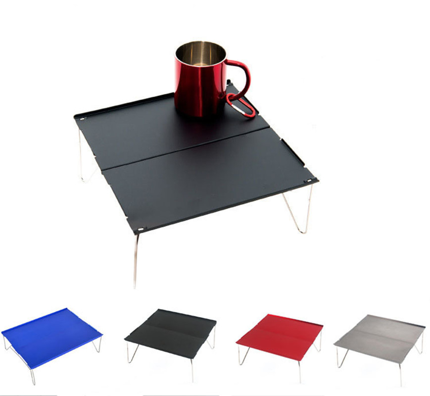 Folding Table Portable Camping Outdoor Furniture Computer Bed Tables Picnic Aluminium Alloy Folding Desk