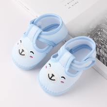 Newborn Baby Girl Boy Shoes Soft Sole Cartoon Anti-slip Shoes Comfortable Cotton Toddler Baby Shoes Baby First Walk zapatos cheap CN(Origin) Cotton Fabric Flower All seasons Hook Loop Animal Prints Unisex Fits true to size take your normal size Newborn baby shoes
