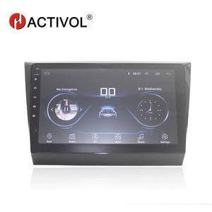 Image 1 - Автомобильный DVD плеер HACTIVOL, 10 дюймов, 1024*600, четыре ядра, android 8,1, с GPS, Wi Fi, bluetooth