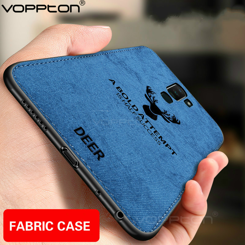 Fabric <font><b>Case</b></font> For <font><b>OPPO</b></font> <font><b>A9</b></font> <font><b>A5</b></font> <font><b>2020</b></font> A11X A1K Phone <font><b>Case</b></font> Animal Design Matte Skin Cloth Hard Back Cover image