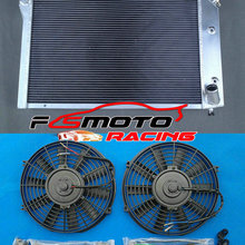 CHEVY Corvette C3 Aluminum Radiator for V8 AT/MT 1977-1982 3-row/79/80/.. 2--Fans