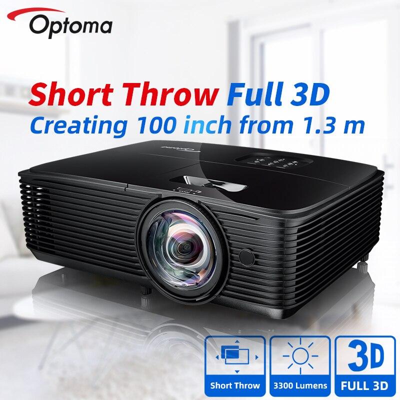 Короткий проектор Optoma Blu-Ray 3D, проектор для бизнеса и учебы, офисных презентаций, домашнего кинотеатра, кинотеатра X318ST/W318ST