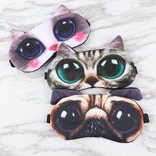 Sleep-Mask Eyeshade-Cover Blindfold Eyepatch Travel Cat Cute Soft Natural Portable Men