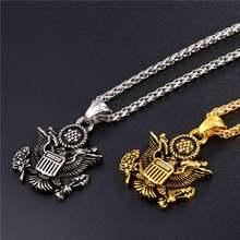 Американский герб День Независимости Сувенир Кулон ожерелье