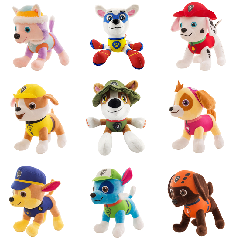 20CM New Paw Patrol Dog Tracker Apollo Cartoon Animal Stuffed Soft Plush Toy Model Toy Doll For Girl Child Birthday Xmas Gift