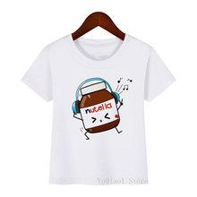 Забавные футболки для девочек nutella музыкальная футболка kawaii