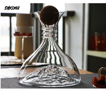 Ołów-kryształ bez ołowiu szkło czerwony karafka do wina instrukcja dmuchany kreatywny karafka do wina różnorodność opcji karafka lodowa 1500ML tanie i dobre opinie OLOEY CN (pochodzenie) Ekologiczne Zaopatrzony shop0220201031005 white Iceberg decanter ice decanter Color box Superior product