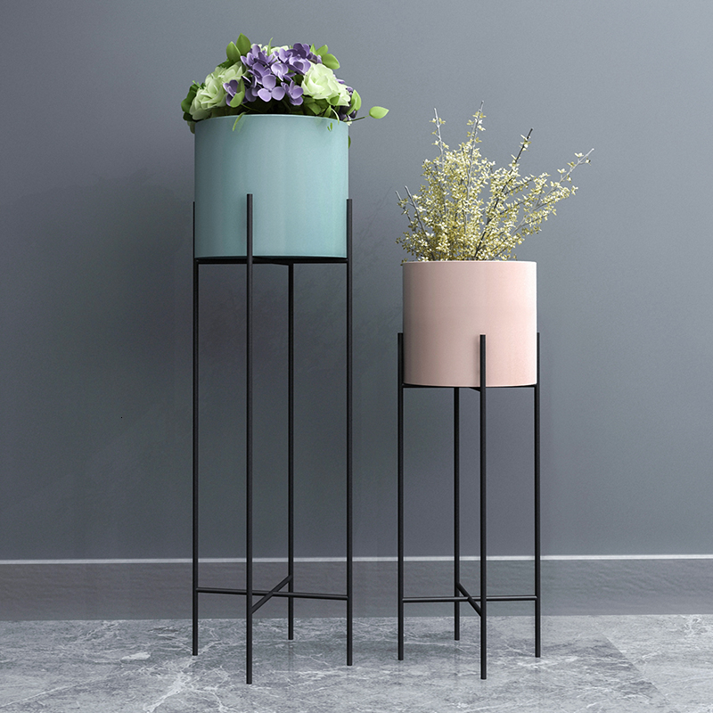 A Flower Airs Iron Art Balcony Indoor Landing Type Ground European Style Modern Simplicity Green Luo Flowerpot Planting Frame