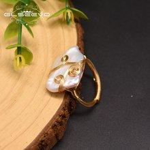 Glseevo натуральный белый квадратный барокко жемчужные кольца