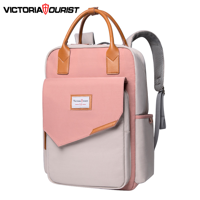"""Victoriatourist Backpack Women Fashion Backpack Multi-layer Space Versatile For Travel Leisure Work School 15.6"""" Laptop Suitable"""