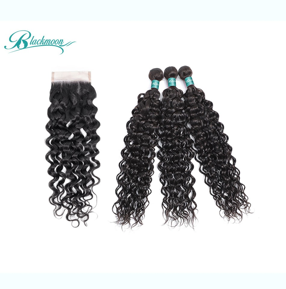 water wave hair weave 3 4 bundles with closure--3+4_04