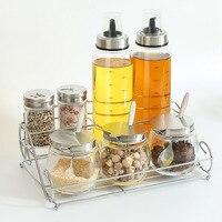 Kitchen oil bottle Gadgets Spice Bottle Seasoning Box Kitchen Spice Storage Bottle Jars PP Salt Pepper Box Set pf90521