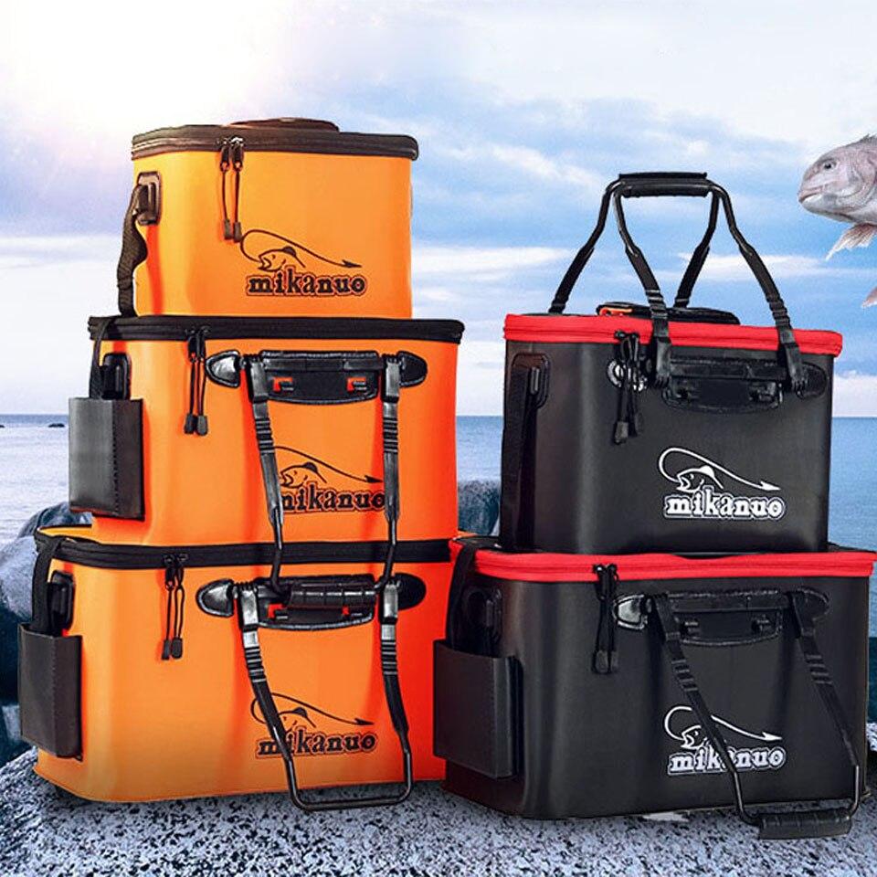 Handing Outdoor Portable Plastic fishing Bucket Live Fish Box sea waterproof Bucket Fishing accessories Fishing Bags