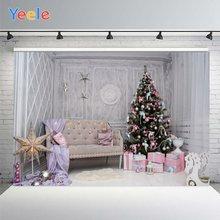 Yeele Рождественские фоны для фотосъемки розовые и фиолетовые