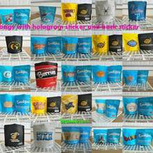 10 pacotes de biscoitos gelatti mylar sacos 3.5g smellproof heatseal ziplock resealable sacos com etiquetas holográficas e etiquetas comprar cd