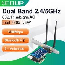 EDUP 1300M WiFi PCI Express Adapter Dual Band 5GHz/2.4GHz Wireless Bluetooth PCI E Network Card Adapter for Desktop Win 10/8/7